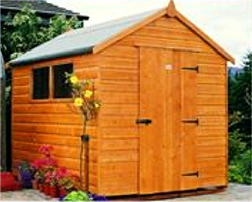 The Classic Shed has a simple yet stylish look with the door set at the gable end and one side window  - supplied & fitted by Donald Murphy Fencing Services, Waterford, Ireland
