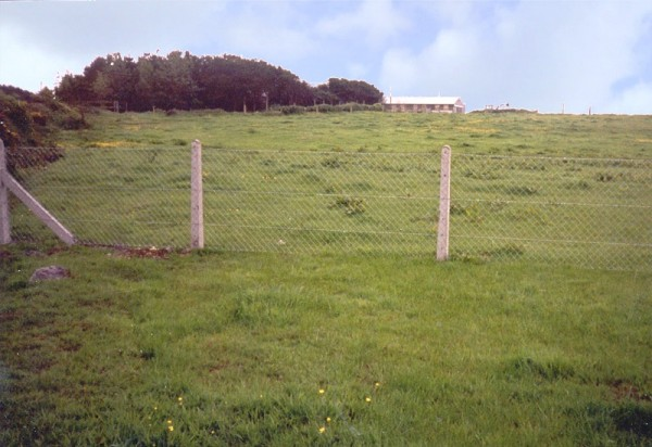 Concrete post and chainlink fence as supplied and fitted by Donald Murphy Fencing Services, Waterford, Ireland